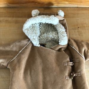 Baby Gap Faux Suede Shearling Snow Suit 18/24 mos